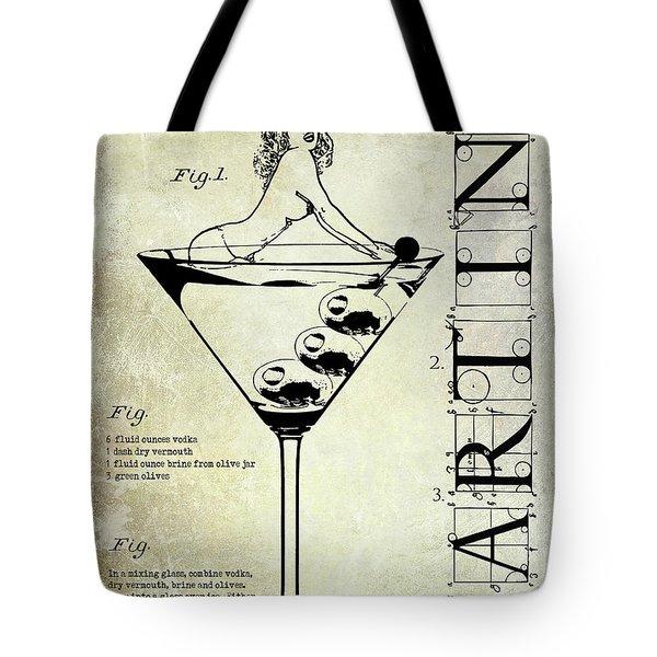 Dirty Martini Patent Tote Bag by Jon Neidert