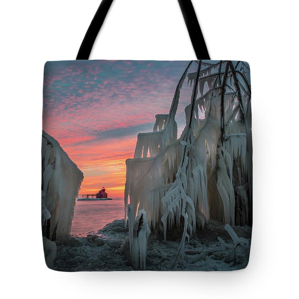 Distant Lighthouse Tote Bag
