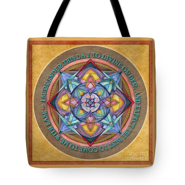 Divine Order Mandala Prayer Tote Bag