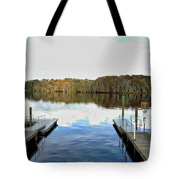 Dock Of The Bay Tote Bag by Michael Albright