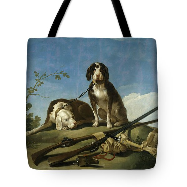 Dogs On The Leash Tote Bag