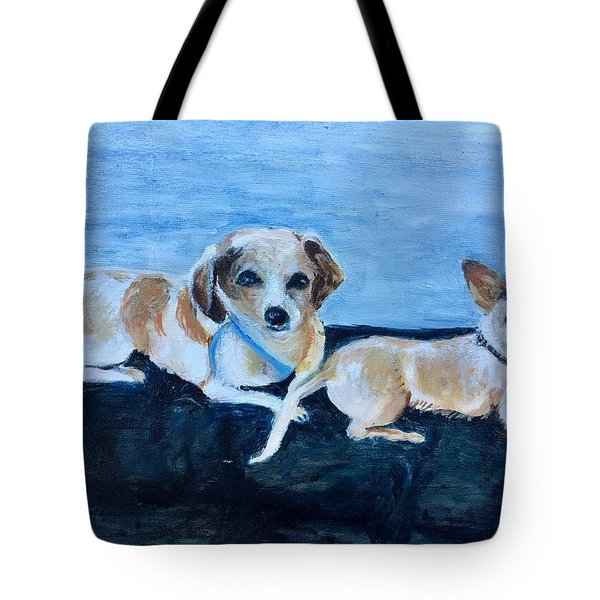 Dogs Resting Tote Bag