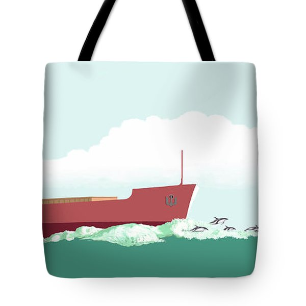 Dolphin Dance Tote Bag