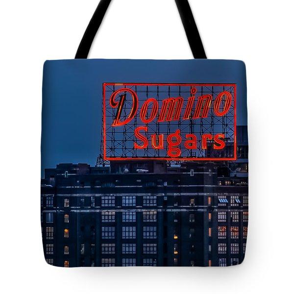 Domino Sugars Sign Tote Bag by Wayne King