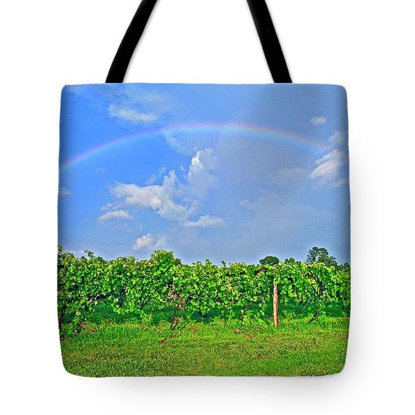 Double Rainbow Vineyard, Smith Mountain Lake Tote Bag