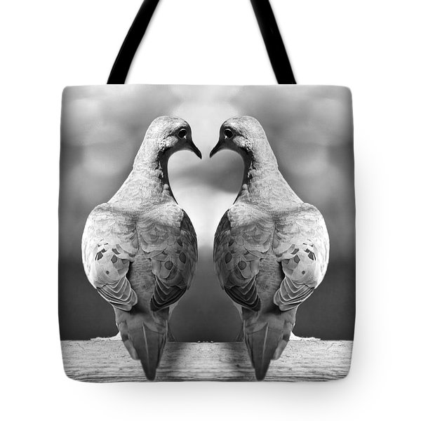 Dove Birds Tote Bag by Randall Nyhof