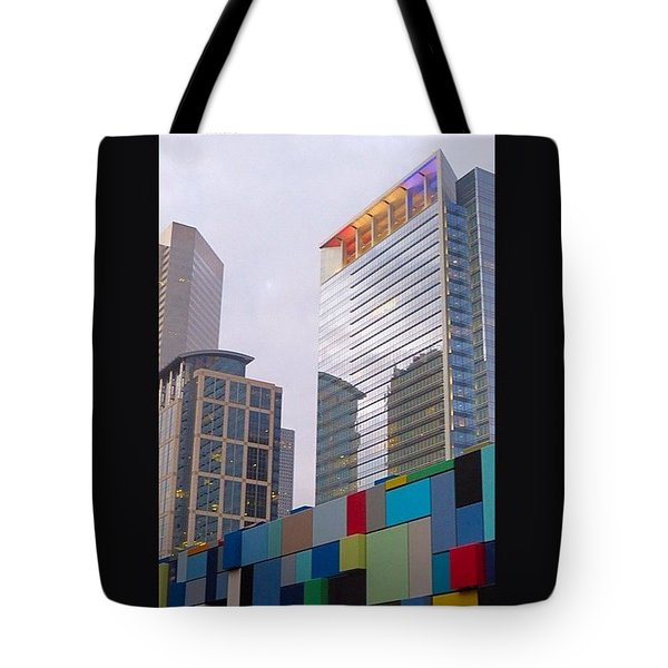 #downtown #houston From #discoverygreen Tote Bag