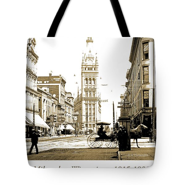 Downtown Milwaukee, C. 1915-1920, Vintage Photograph Tote Bag