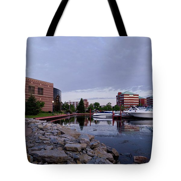 Tote Bag featuring the photograph Downtown Neenah by Joel Witmeyer