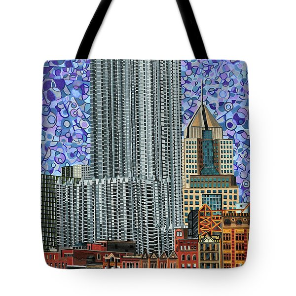 Downtown Pittsburgh - View From Smithfield Street Bridge Tote Bag by Micah Mullen