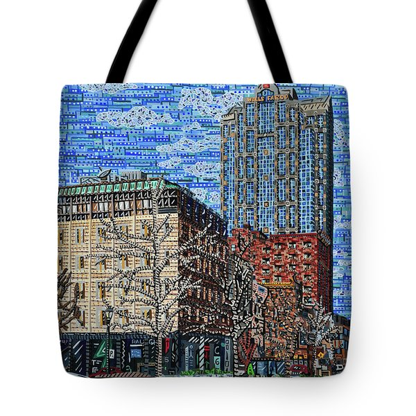 Downtown Raleigh - Fayetteville Street Tote Bag by Micah Mullen