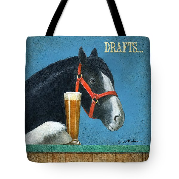 Drafts... Tote Bag by Will Bullas