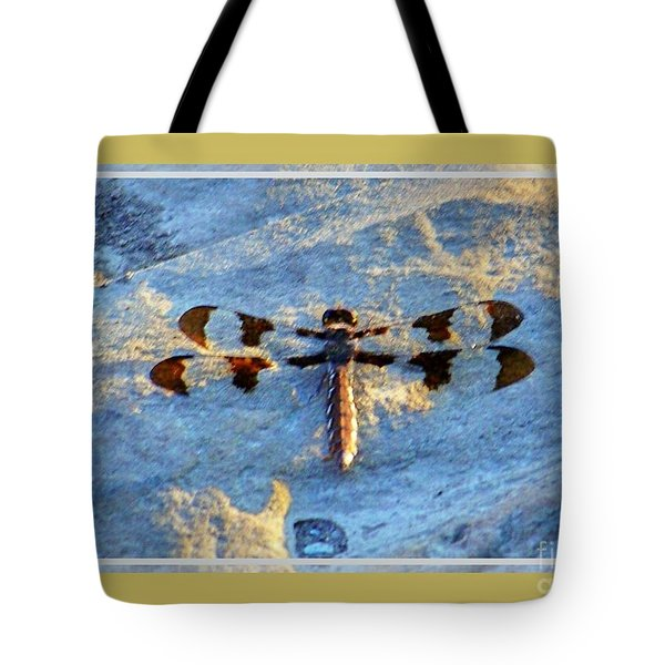 Dragonfly Tote Bag by Shirley Moravec