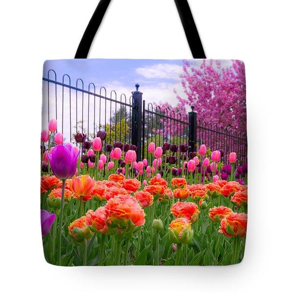 Dreamy Tulip Garden Tote Bag