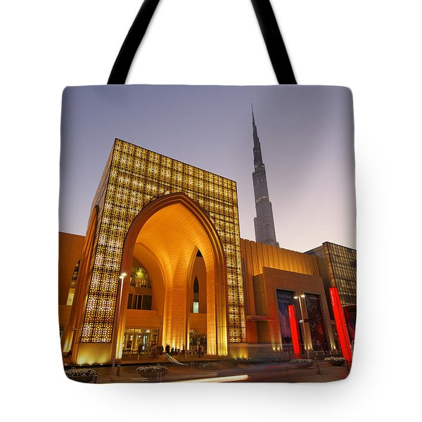 Tote Bag featuring the photograph Dubai Burj Khalifa by Juergen Held