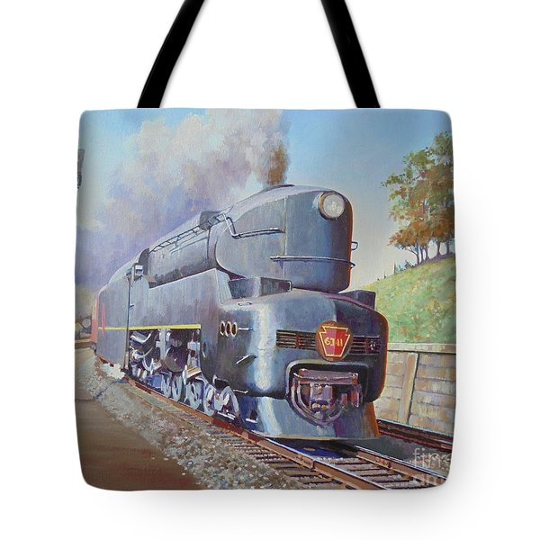Tote Bag featuring the painting Duplex Express by Mike Jeffries