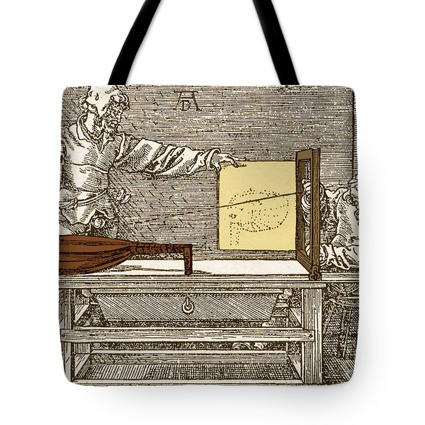 Durers Perspective Drawing Of A Lute Tote Bag by Science Source