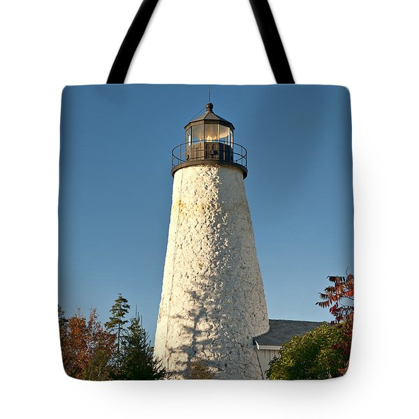 Dyce Head Lighthouse Tote Bag by John Greim