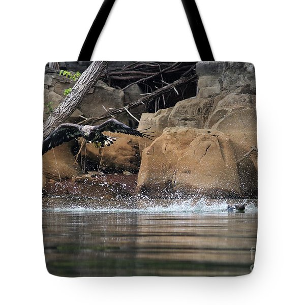 Tote Bag featuring the photograph Eagle Attack II by Douglas Stucky