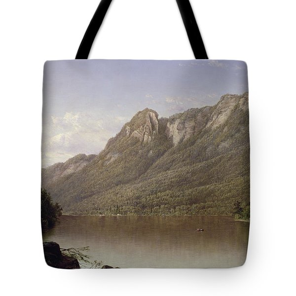 Eagle Cliff At Franconia Notch In New Hampshire Tote Bag by David Johnson