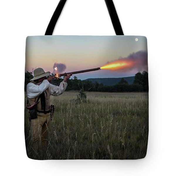Early 1800's Flintlock Muzzleloader Blast Tote Bag