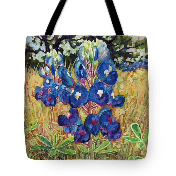 Tote Bag featuring the painting Early Bloomers by Hailey E Herrera