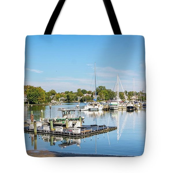 Early Fall Day On Spa Creek Tote Bag