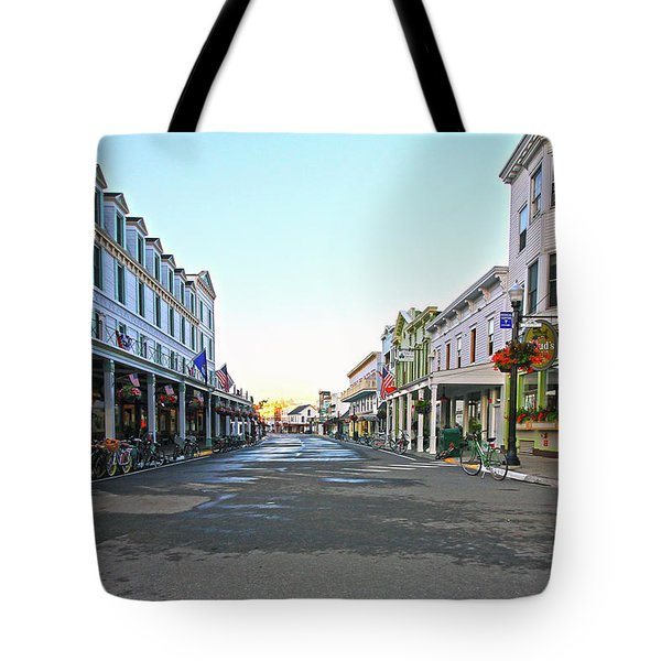 Tote Bag featuring the photograph Early Morning On Mackinac Island by Jackson Pearson
