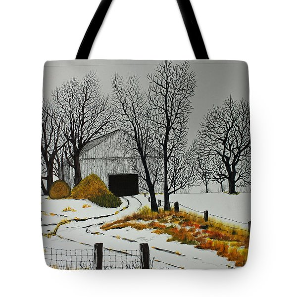 Early Snow Tote Bag by Jack G  Brauer