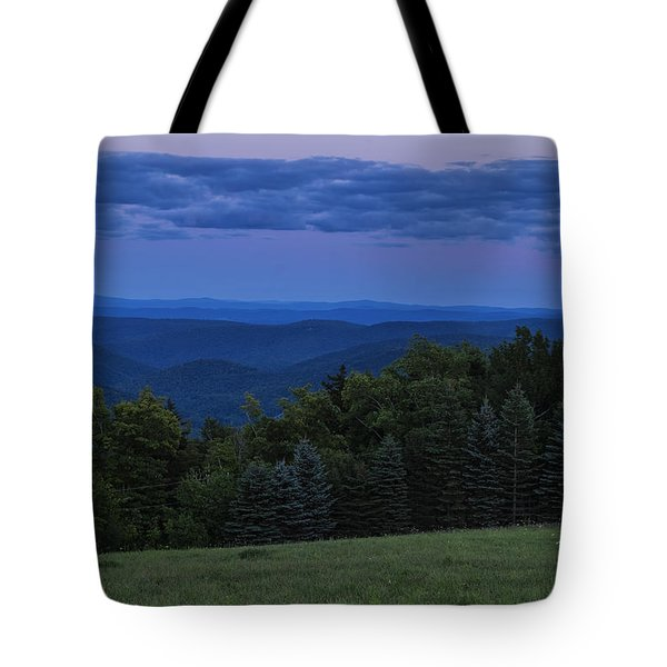 Tote Bag featuring the photograph East Dover Full Moon by Tom Singleton