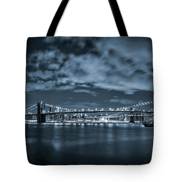 Tote Bag featuring the photograph East River View by Az Jackson