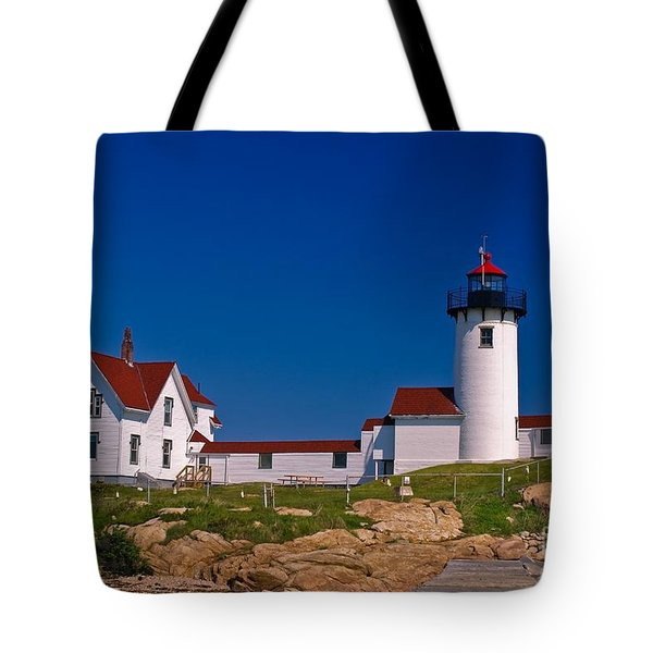 Eastern Point Lighthouse. Gloucester, Ma. Tote Bag