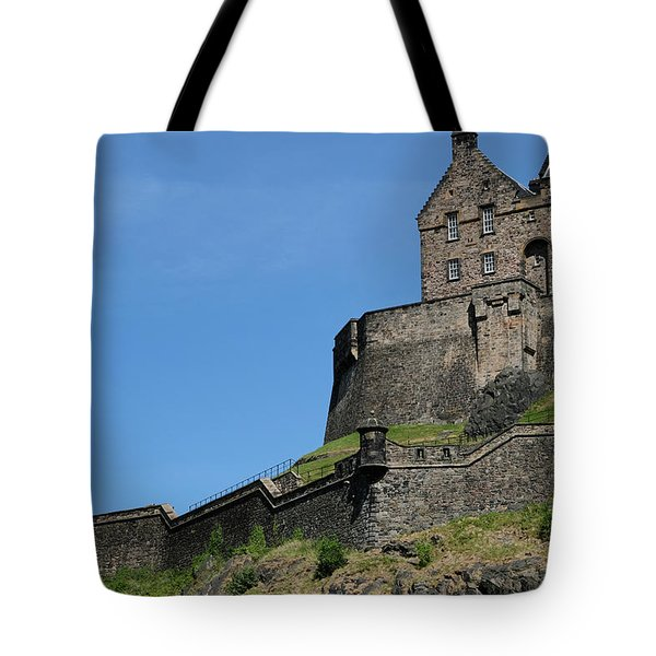 Tote Bag featuring the photograph Edinburgh Castle by Jeremy Lavender Photography