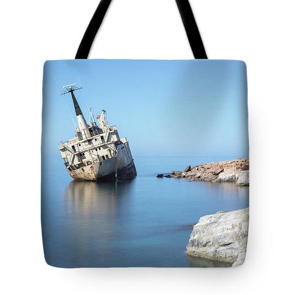 Edro IIi Shipwreck - Cyprus Tote Bag