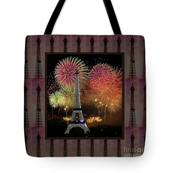 Effel Tower Paris France Landmark Photography Towels Pillows Curtains Tote Bags Tote Bag
