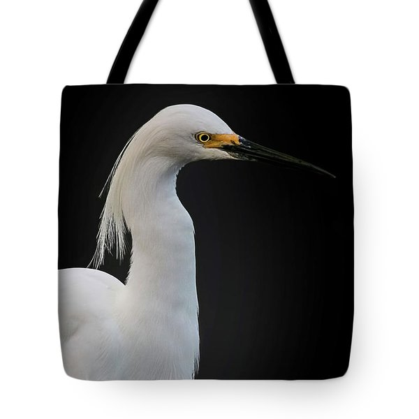 Egret Tote Bag by Cyndy Doty