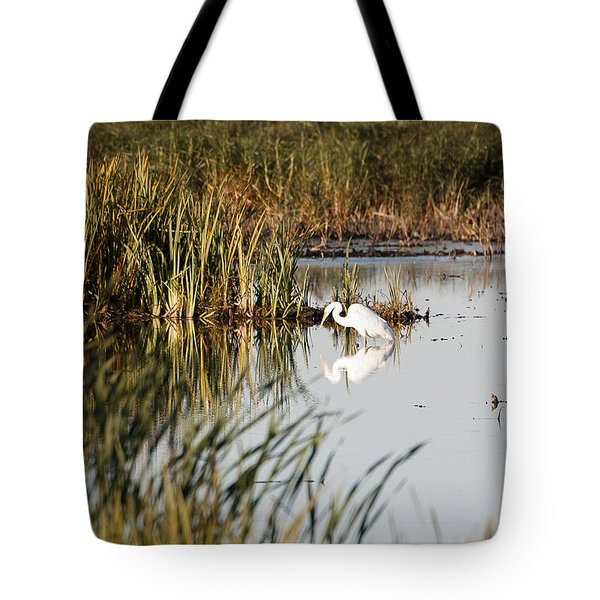 Egret - Horicon Marsh - Wisconsin Tote Bag