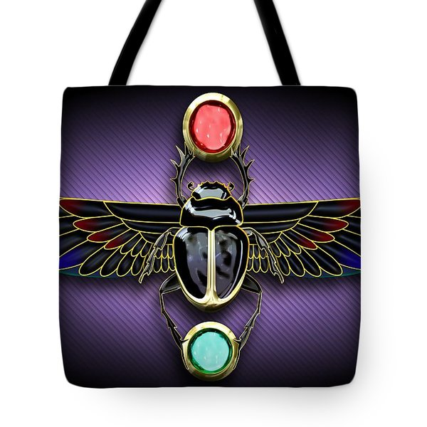 Egyptian Scarab Beetle Tote Bag