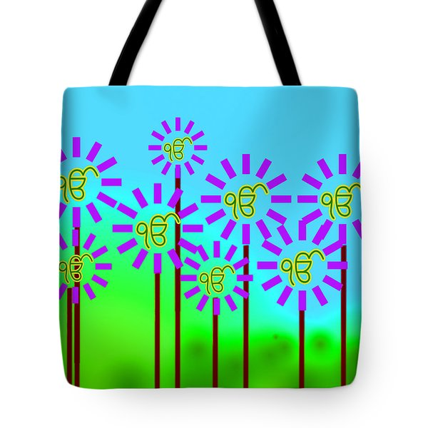 Ekonkar Flowers Tote Bag