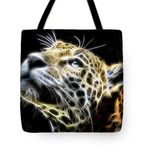 Electric Leopard Wall Art Collection Tote Bag