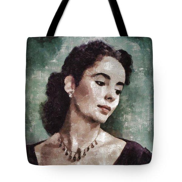 Elizabeth Taylor By Mary Bassett Tote Bag