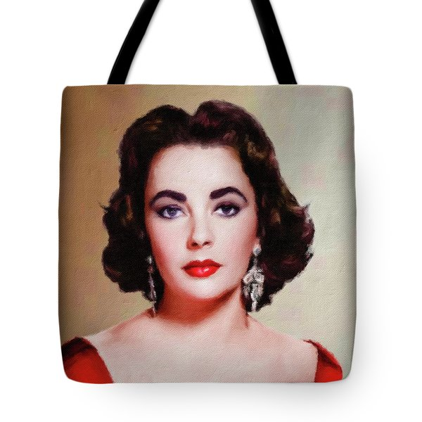 Elizabeth Taylor Hollywood Actress Tote Bag