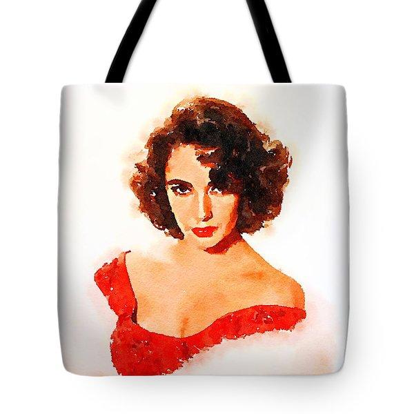 Elizabeth Taylor Tote Bag by John Springfield
