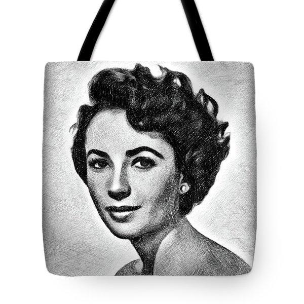 Elizabeth Taylor, Vintage Actress By Js Tote Bag