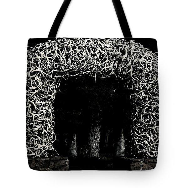 Elk Antlers Gate Jackson Hole Wy Tote Bag by Christine Till