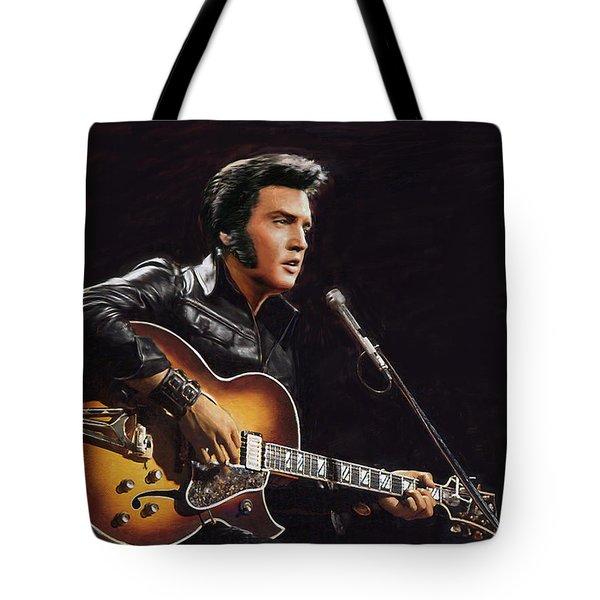Elvis Presley Tote Bag by Dominique Amendola