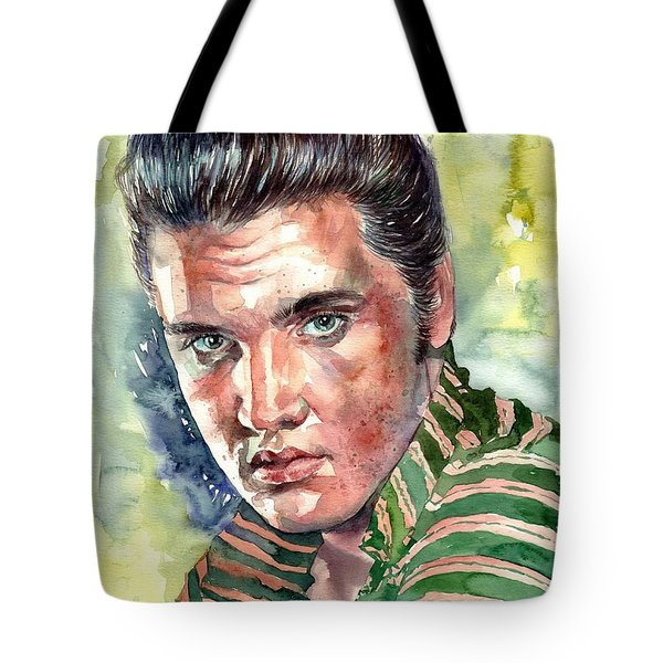 Elvis Presley Portrait Tote Bag