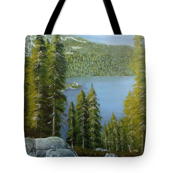Emerald Bay - Lake Tahoe Tote Bag by Mike Caitham