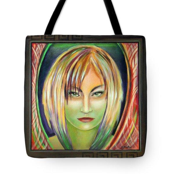 Emerald Girl Tote Bag