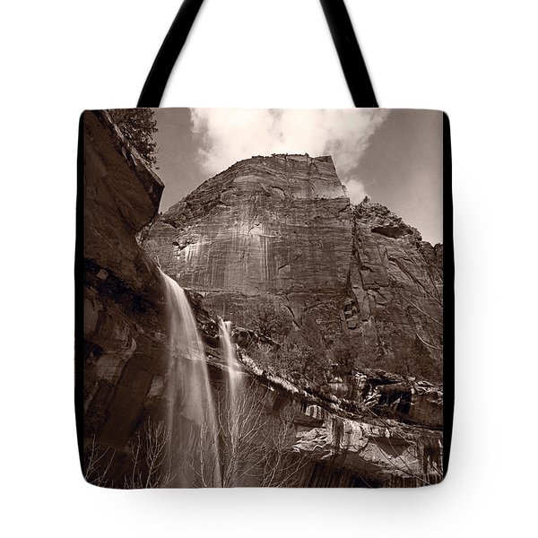 Emerald Pools Falls Zion National Park Tote Bag by Steve Gadomski